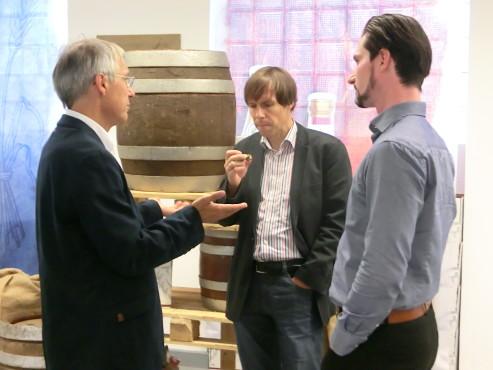 - BrauKunstKeller - v.l.n.r.: Horst Kowarsch, Frank Diefenbach und Alexander Himburg