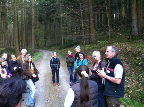 Führung durch den Michelstädter Stadtwald mit Förster Burkhardt Klose.