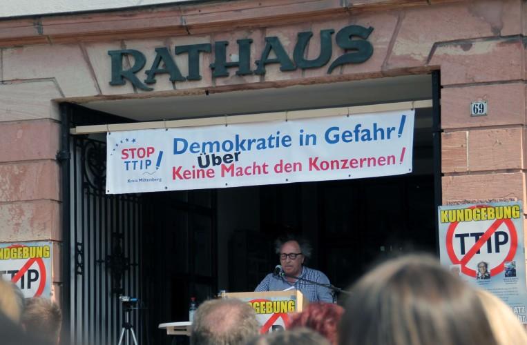TTIP-Demo in Miltenberg.